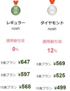 ナッシュのレギュラー会員とダイヤモンド会員の比較